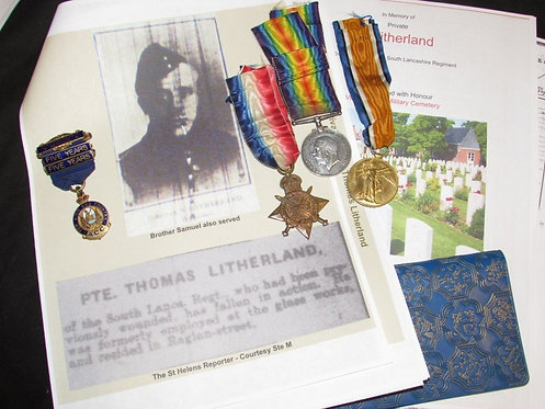 WW1 Trio South Lancashire Regiment Wounded/Casulty