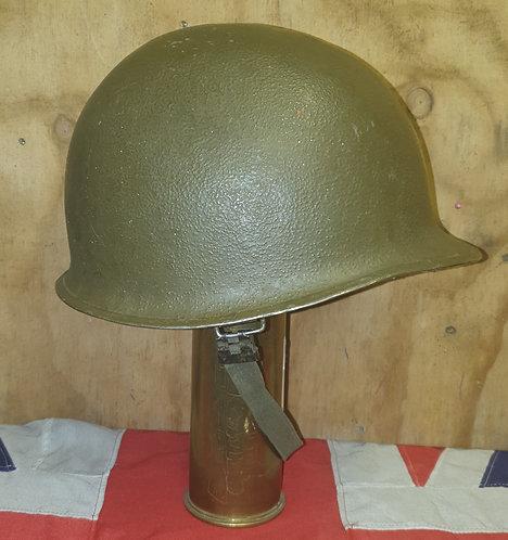 WW2 Front seam US helmet.
