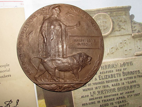 Death Plaque and Victory Medal Liverpool Scottish