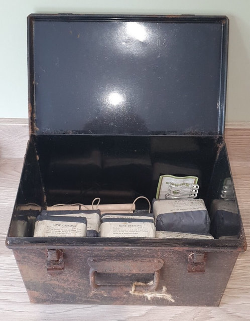 WW2 ARP shelter first aid box