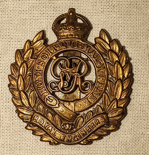 Original WW1 Royal Engineers cap badge