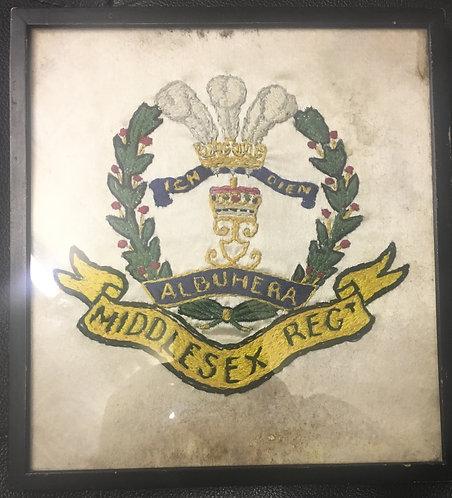 Framed Silk of the Middlesex regiment