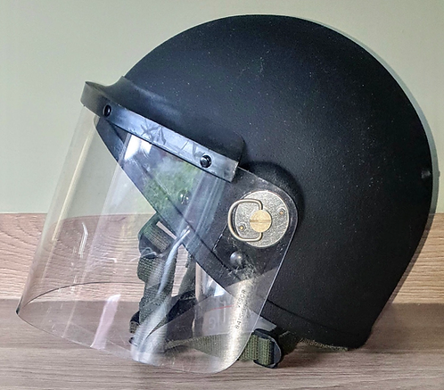 Scarce modern MK6A helmet with riot visor.