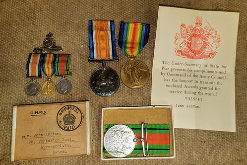 Ww1/ww2 medals to same man