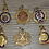 Thumbnail: Selection of small cap badges of WW2 possibly fobs badges.