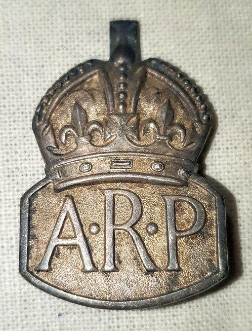 Silver ARP badge