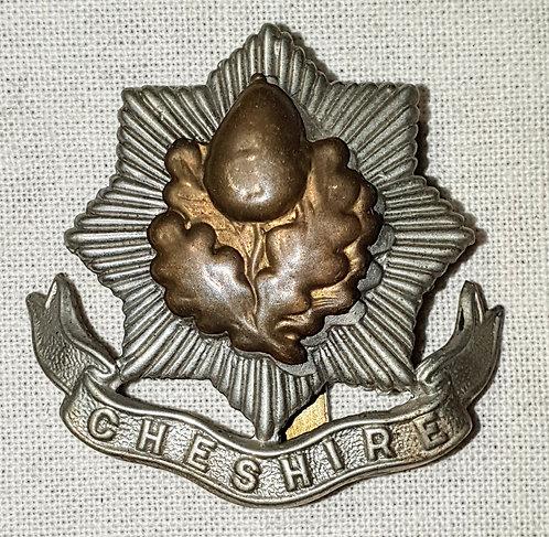 Original WW1 Cheshire Regiment cap badge