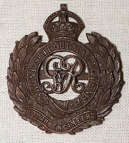 WW1 Officers Royal Engineers cap badge