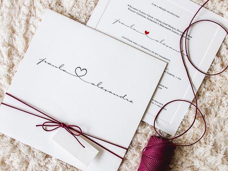 Convites de casamento bonitos e com custo reduzido