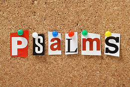 The word Psalms, one of the books from t