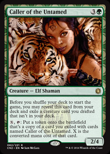 Modeled for Magic Cards: Caller of the Untamed