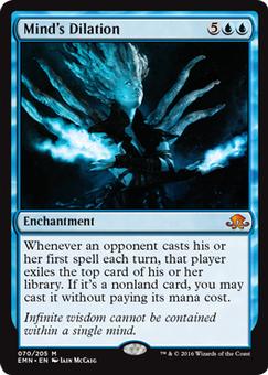 Modeled for Magic Cards: Mind's Dilation