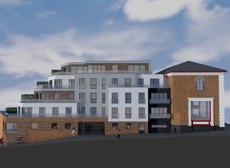 Crystal House - residential scheme for 9 apartments in for planning