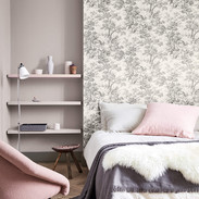 Stag Toile - Moss and Perennial Grey 245