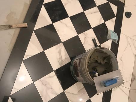 Koupelna téměř u finiše