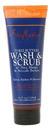 Shea Moisture Three Butters Wash & Scrub Body Wash