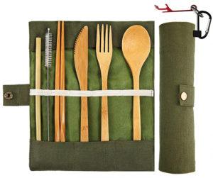 BewBow Bamboo Utensil Set