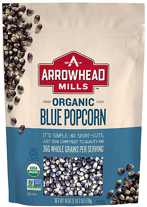 Arrow Head Mills Organic Blue Popcorn