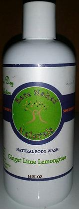 BNN Ginger Lime Lemongrass Body Wash 16 oz
