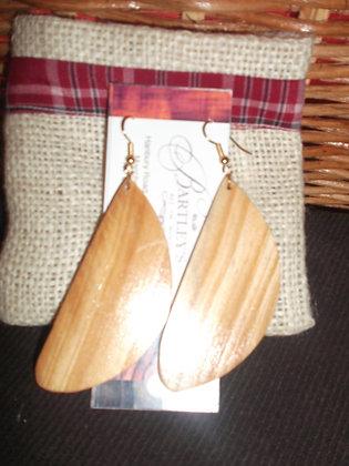 Wood Leaf Earring