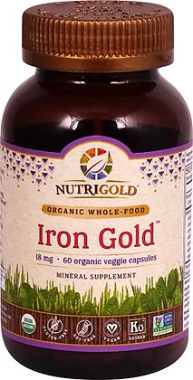 NutriGold Iron Gold-- 60 Organic Veggie Capsules