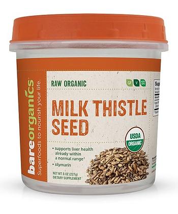 BareOrganics Milk Thistle Seed Powder Raw