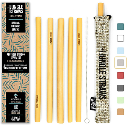 Jungle Straws Bamboo Box Set