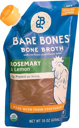 Bare Bones Bone Broth Paleo Rosemary & Lemon