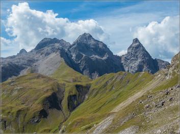 Mädelegabel, Hochfrottspitze und Trettachspitze