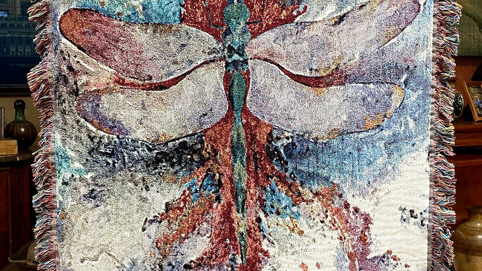 Original Dragonfly Woven Throw