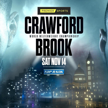 Crawford-Kell Brook Welterweight World Title Showdown to Air Live and Exclusively on Premier Sports