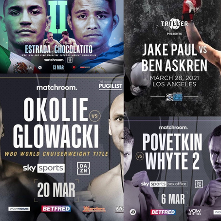 #JANUARY - #APRIL 2021 #BOXING SCHEDULE 😉🥊💥