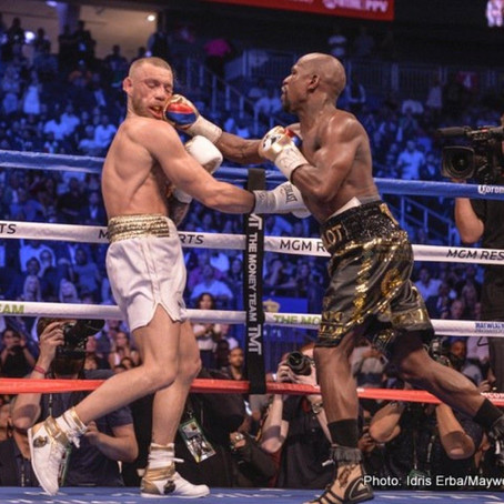 Mayweather: McGregor won't make the same money fighting Pacquiao as he did with me