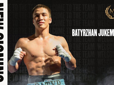 MTK GLOBAL AND RICK MIRIGIAN SIGNS KAZAKH SENSATION BATYRZHAN JUKEMBAYEV