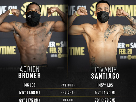 🥊 TONIGHT: Adrien Broner vs Jovanie Santiago on SHOWTIME