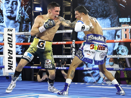 Valdez KO's Berchelt to win the Junior Lightweight Title!