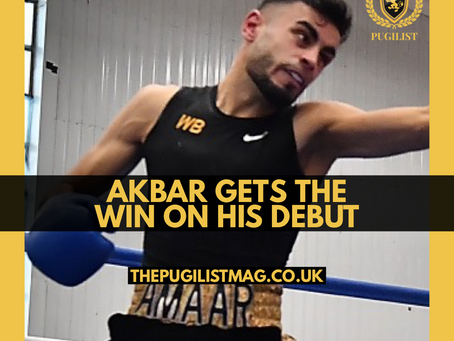 Akbar gets the win on his debut!