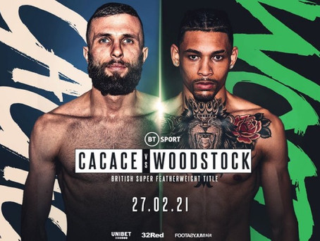 Lyon Woodstock has tested positive for Covid-19 and as a result the fight with Anto Cacace is off!