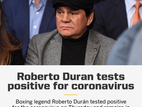 Thoughts are with Roberto Duran