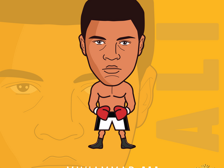 Here's our #MuhammadAli #Ali art finished just after finishing Robinson, Hearns and Tyson are next.
