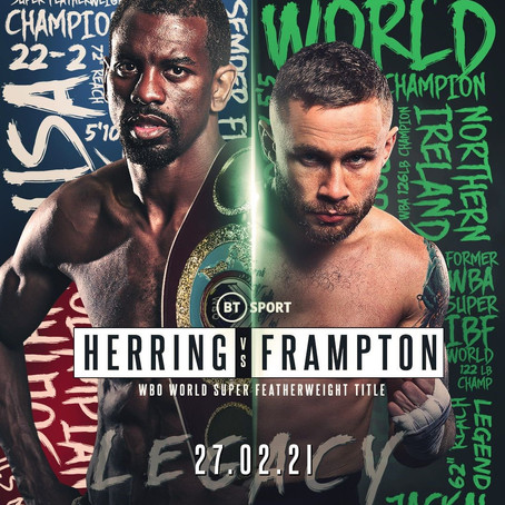 FRAMPTON AND HERRING SET TO COLLIDE ON FEB 27