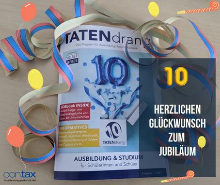 """10-jähriges Jubiläum """"Tatendrang"""""""