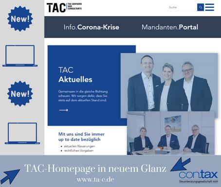 Neue Homepage der TAC