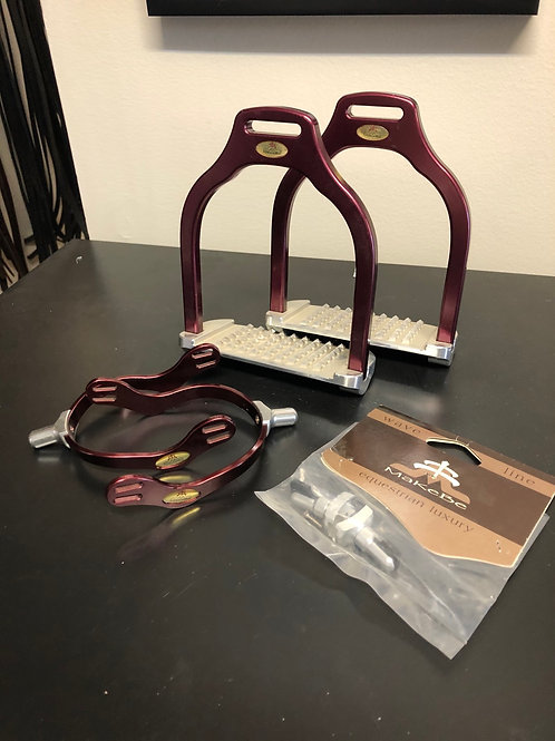 Makebe stirrup iron and spurs