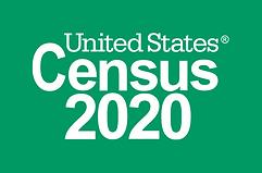 2020 Logo_Census 2020_Reversed_Green_Pre