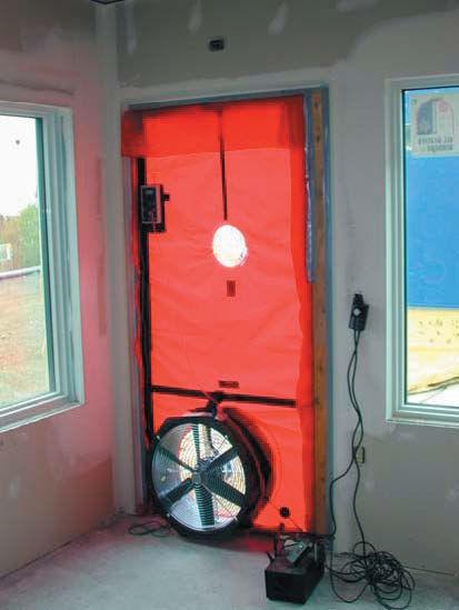 Blower door energy audit