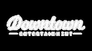 DOWNTOWN ENTERTAINMENT WHITE LOGO ON TRA