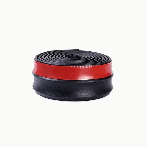 Губа на бампер U-lip черная (4см)
