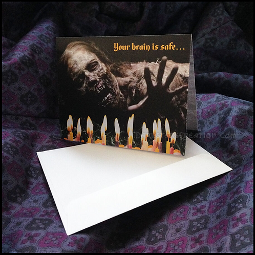 Zombie Birthday, Anniversary, Graduation - Walking Dead Fan - 2 Fun Party Cards!