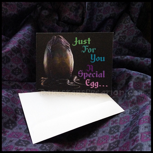 Xenomorph Easter Egg - Face Hugger Greeting Card! Birthday, Anniversary, etc!
